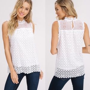 TORI Lace Detail Top - IVORY